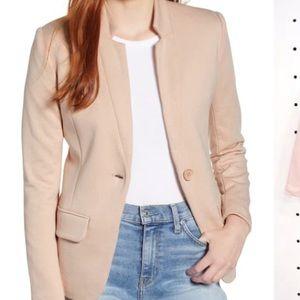 Gibson Nordstrom Notch Collar Cotton pink Blazer